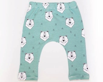 Baggy, pants pants baby, pants, long pants, organic cotton pants.  Different prints to choose (see photos)