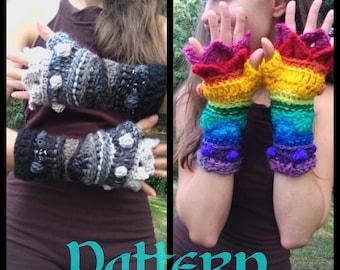 Pattern: Bobble Scale Fingerless Gloves / Arm Warmers