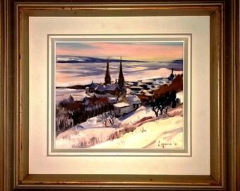 Table painting of Michel Lapensée born in Verdun in 1947.