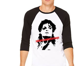 Michael Jackson Inspired Graffiti Art Raglan T-Shirt