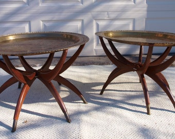 Spider Leg Oval Coffee Table