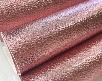 Litchi de cuir PU or métallisé Rose Rose simili cuir doré feuille A4 ou A5 taille Or Rose Faux cuir tissu simili cuir doré en relief