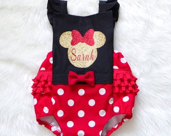 The ORIGINAL~Minnie Romper W/added name or number