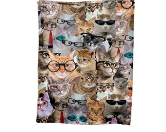 Cat Faces Blanket