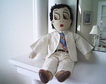 1950s CLOTH DOCTOR DOLL Original 7 pc. Outfit