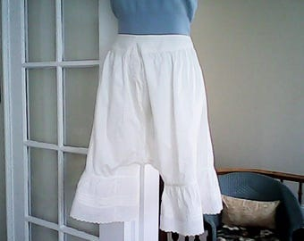VICTORIAN FASHION BLOOMERS Cotton Lace Costume Trendy