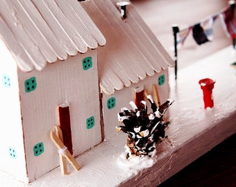Driftwood Houses, Driftwood Cottage,Winter Scene,Mountain cabin,tiny cabin,winter cabin