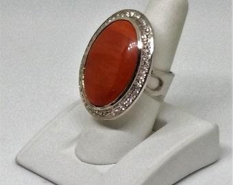 Sterling Silver Larger Oval Jasper,Valentine gifts