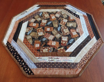 Coffee Table Topper, Coffee Table Mat, Quilted Coffee Centerpiece