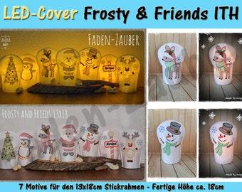 LED Kerzen-Cover Frosty & friends 13 x 18 frame