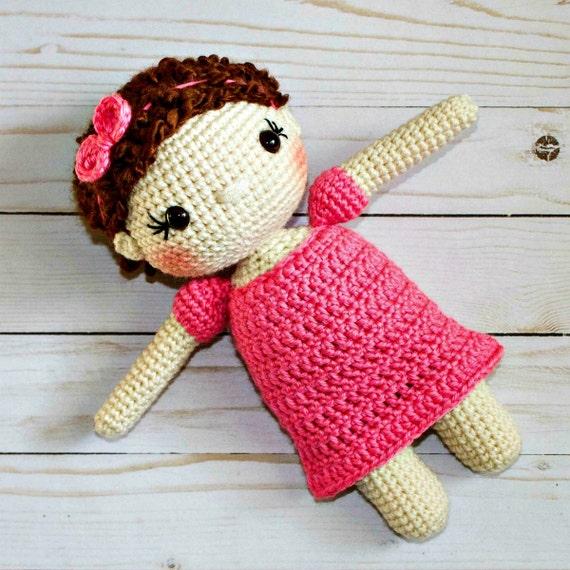 Crochet Amigurumi Doll Head : Crochet Doll Pattern Amigurumi Doll Pattern Dolly Crochet Girl