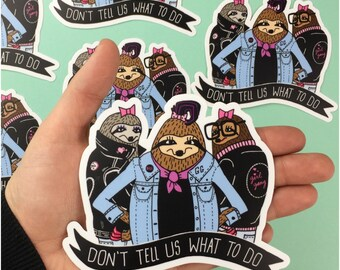 Sloth Girl Gang Sticker
