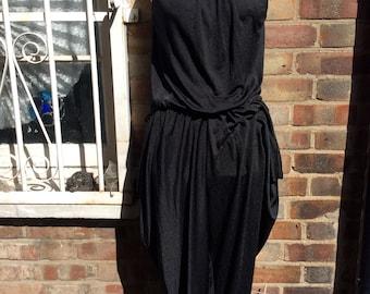 Authentic vintage black evening jumpsuit