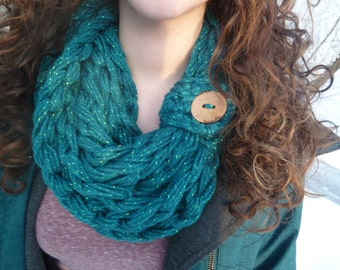 Infinity, Scarf Cowl, Teal Green Sparkle Scarf, Chunky Infinity Cowl, Chunky scarf, Long infinity Scarf, Infinity Scarf, Teal Scarf, Scarf