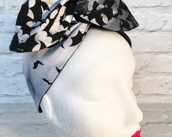 Bats gothic goth headband - wired hairband - head band - head scarf - Halloween - gift for her - unusual accessory for her - goth gift