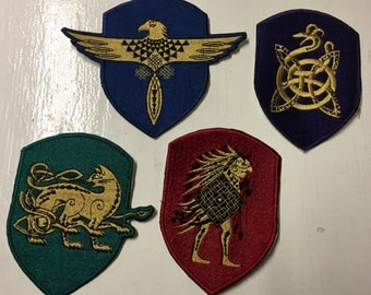 Ilvermorny Harry Potter House Patches.