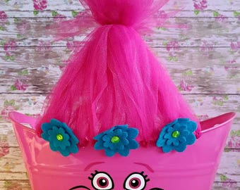 Trolls Oval Easter Tub, Toy Storage Basket