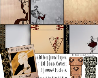 Art Journal Papers, Cover and Pockets. (Paper 8 x 8 inches.)  DOWNLOAD