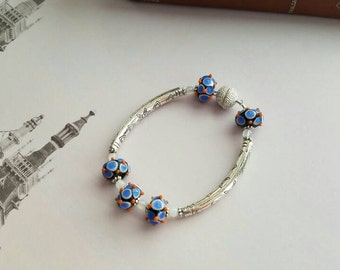 Artisan Lampwork Beaded Bracelet for the Boho Hippie Gypsy
