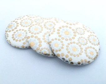 Gold and Silver Glitter Pocket Mirrors
