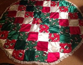 "60"" Handmade Christmas Tree Skirt"