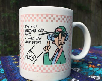 Maxine Mug, Not Getting Old Shoebox Coffee Mug