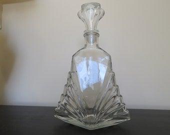 Art Deco Glass Liquor Bottle Decanter