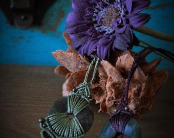 Macrame necklace .·*·. ajustable neckalces, organic designs .·*·. Moss agate, cornaline, onix