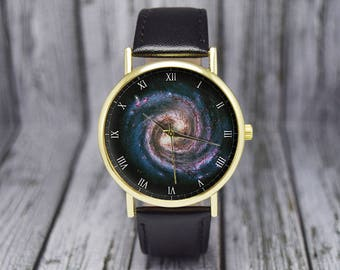 Galaxy Space Watch | Milky Way | Astronomy | Leather Watch | Ladies Watch | Men's Watch | Birthday Gift | Gift Idea | Fashion Accessory