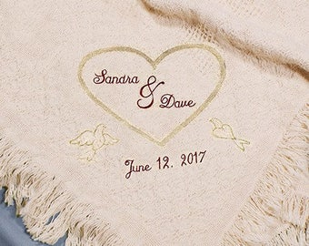 Personalized Blanket, Couples Personalized Blanket
