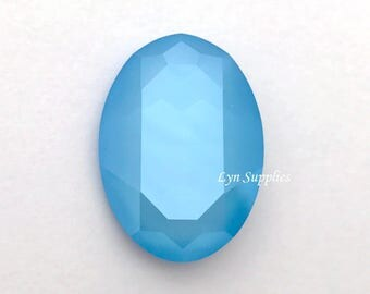 4127 SUMMER BLUE 30x22mm Swarovski Crystal Oval Fancy Stone, New Color Spring / Summer Collection 2018