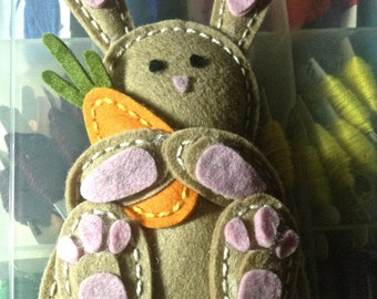 Easter Bunny, Felt Toy, Plushies, Easter Basket