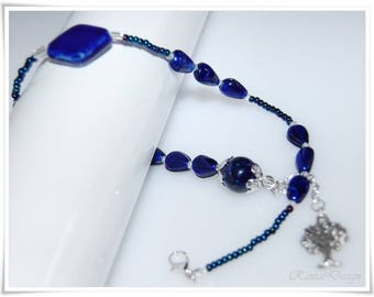 Bracelet wrap bracelet ceramic beads toho beads gift for women bracelet jewelry living tree