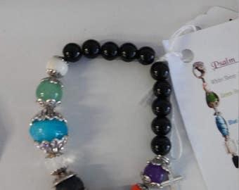 Psalm 23 gemstone bracelet