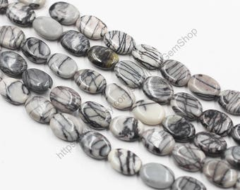 Mesh Jasper Beads -- Network Gemstone Smooth Loose Bead Wholesale YHA-279