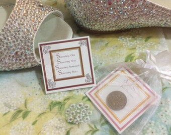 2 Pack of our Lucky Sixpence Coin For The Bride To Be *READY TO SHIP*