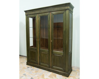 Green Bookcase with three doors