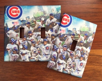 Chicago Cubs 2016 world series team photo baseball MLB sports fan Light switch cover SAME Day SHIPPING!! **
