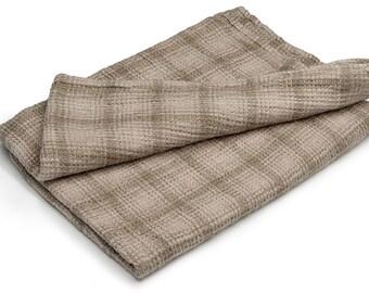 Gray linen bathroom towel, green linen towel, pure linen towel, rustic linen towel, flax towel, eco friendly towel, flax bathroom towel
