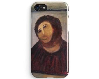 Botched Jesus Fresco - iPhone 7 case, Samsung galaxy S8 case iPhone 6 iphone 7 plus samsung galaxy S7 iphone SE 1P032