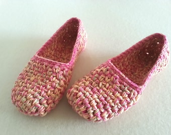 Melange Crochet slippers \ Unique gift for women \ Women's Yarn Shoes \ House slippers Non Slip \ Kućne patike \ Pantofole donna