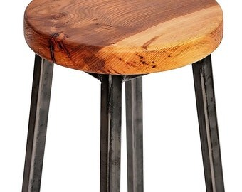 Wood Bar Stool Etsy