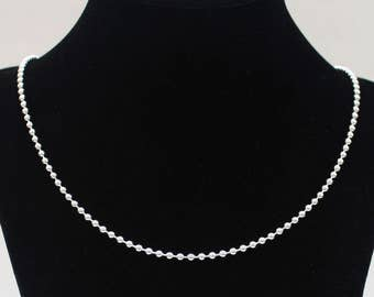 mens silver chain 3mm sterling silver necklace sterling silver chain ball chain 16 18 20