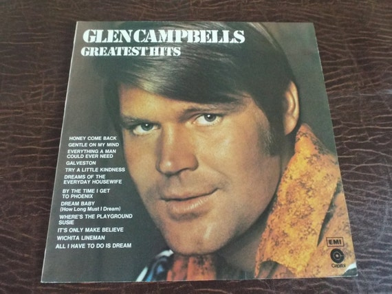 The Best Of Glen Campbell Vinyl 33 Album Sleeve And Cover