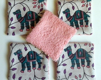 "lot of 5 washable wipes ""Indian camel"""