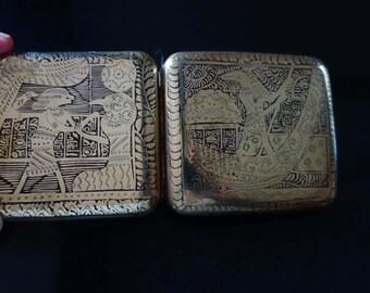 Egyptian revival motif cigarette CASE SALE WAS 42.00 now 30.00