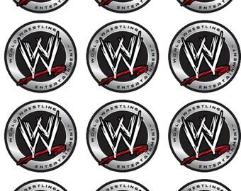 WWE Edible Image Cupcake Toppers
