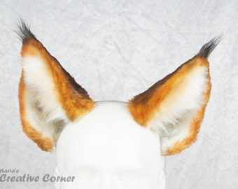 Cute Lynx Ears - Realistic Lynx Ears, Furry, Wearable ears, Head band ears, Lynx Cosplay, Cat Costume, Made-to Order