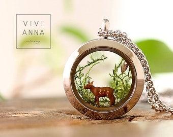 Wonderland - small deer «miniature chain k427».