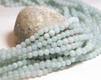 4mm Amazonite, 4mm Round Amazonite, 4mm Amazonite, Small Amazonite Beads, 4mm Gemstone Beads, Small Gemstones, Tiny Beads, B-27A